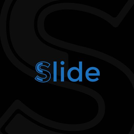 SLIDES LOGO ... WITH BLACK AND BLUE