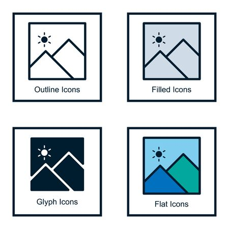 BOOK ICONS WITH SOME KINDS OF STYLES, LINE ICONS, FILLED ICON, GLYPH ICON, AND FLAT ICON