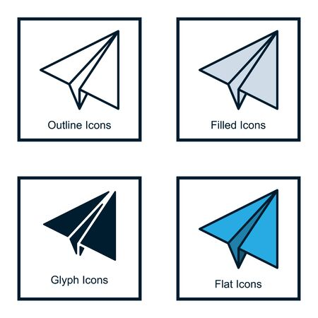 NAVIGATION ICON WITH SOME KINDS OF STYLES, LINE ICONS, FILLED ICONS, GLYPH ICONS, AND FLAT ICONS