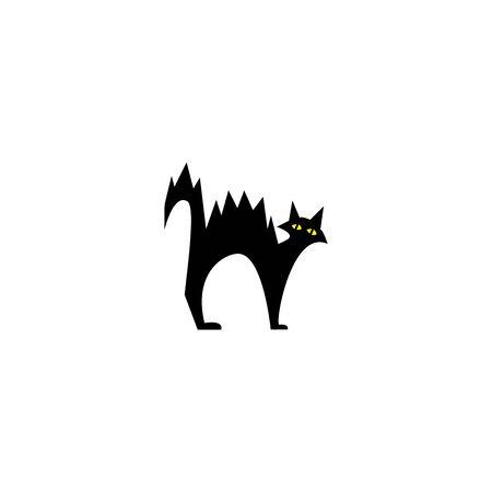 HALLOWEEN BLACK CAT - black cat vector image