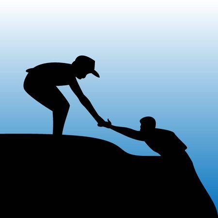 illustration d'aider les autres (actes de gentillesse)