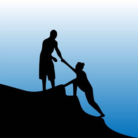 illustration of helping others (acts of kindness) Фото со стока - 132303102