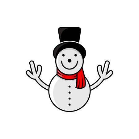 THE SNOWMAN WITH A LINE STYLE AND FILLED DESIGN (WINTER)
