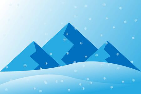 winter background covered in snow Illustration