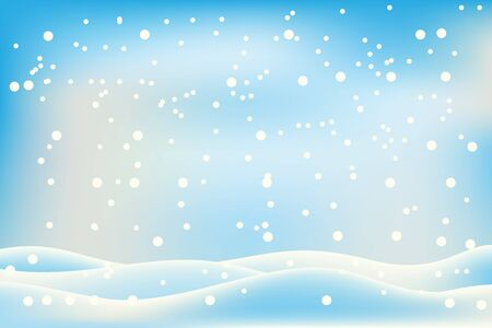 beautifull snoflake winter background landscape Иллюстрация