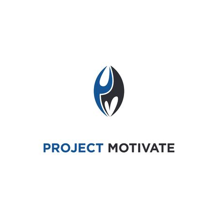 PROJECT MOTIVATION LOGO WITH FIRE SYMBOLS FROM LETTERS P AND M