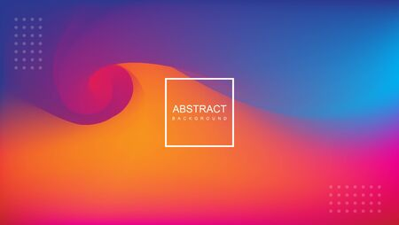 ABSTRACT BACKGROUND WITH ORANGE, PINK AND BLUE COLORS Иллюстрация