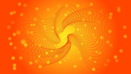 WAVE AND PARTICLE BACKGROUND, WITH ORANGE COLOR