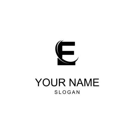 logo design letter E ... black and white Logos