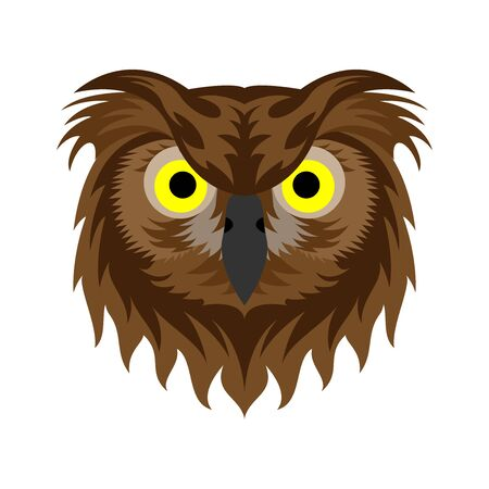 Tribal owl head. Tattoo designs. can be used to design t-shirts, bags, postcards, posters and so on.