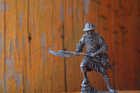 plastic soldier: expressive tin soldier with weapons and armor