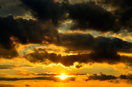 Clouded sky at sunset 写真素材