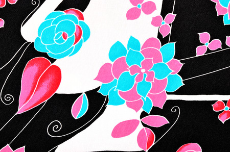 Graphic big flower abstract print as background. 写真素材