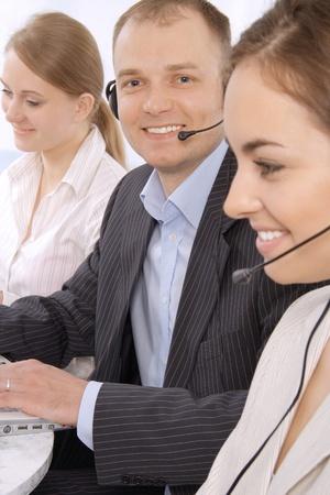Group portrait of customer service representatives