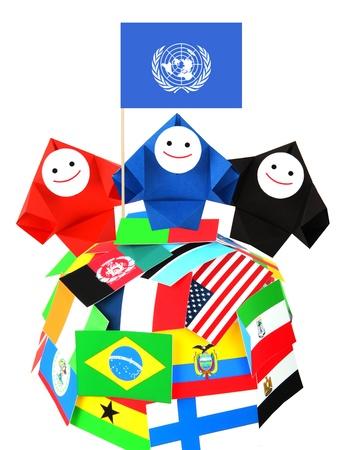 continente americano: Imagen conceptual de las relaciones internacionales y la cooperación