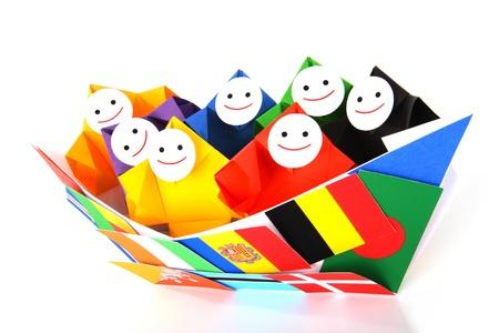 Image conceptuelle des relations internationales et de la coopération