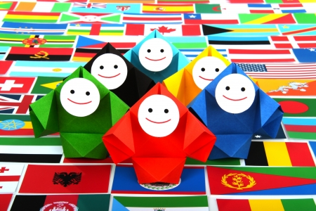 globalisation: Conceptual image of international relations and cooperation
