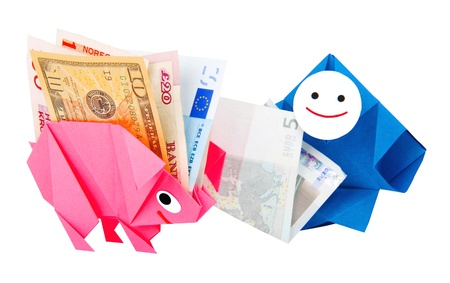 Conceptual image of money, earnings, and economy photo
