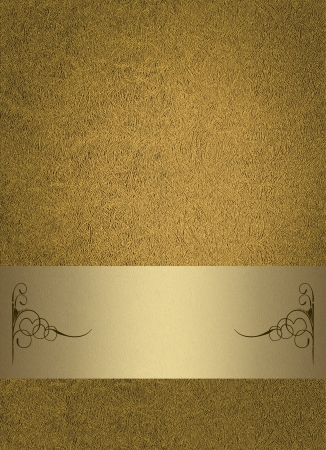 golden background: Abstract border frame, has vintage grunge background texture design with lighting, luxurious paper or wallpaper