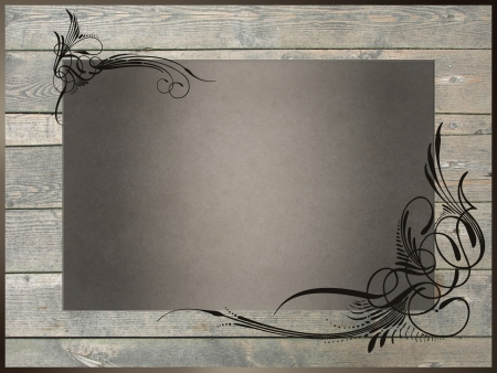 Abstract border frame, has vintage grunge background texture design with lighting, luxurious paper or wallpaper  photo