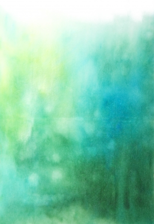 watercolor background: Abstract hand drawn watercolor background  blue and green blurs