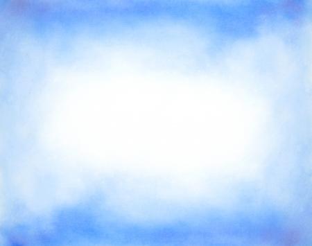 himmel hintergrund: Zusammenfassung Hand gezeichnet Aquarell Hintergrund blauer Himmel und weiße Wolken