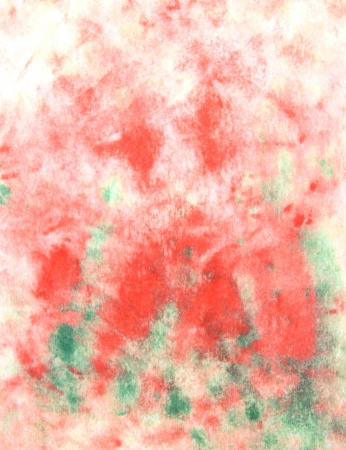 Abstract hand drawn watercolor background  green leaves and red flowers photo