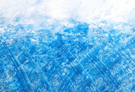 Mano de pintura abstracta fondo azul dibujado patrones como las nubes o el agua como telón de fondo, en blanco perfecta de la textura del arte, el diseño del grunge, y papel de la vendimia Foto de archivo - 15379211