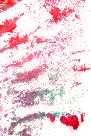 Abstract hand drawn painting   graphics  red flower-like patterns on white background  Great for art texture, grunge design, and vintage paper photo