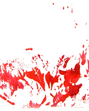 encaustic: Abstract hand drawn painting Stock Photo