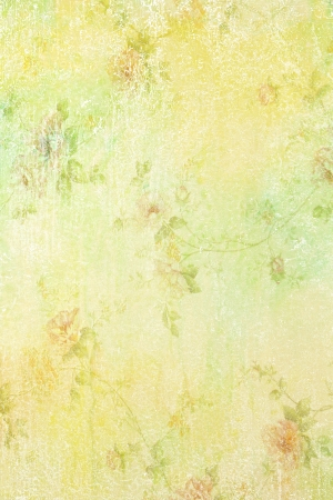 Abstract textured background  roses   floral patterns  on yellow backdrop  For art texture, grunge design, and vintage paper   border frame photo