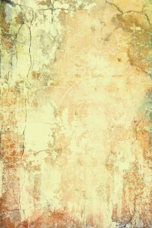 Abstract textured background  brown and red patterns on yellow backdrop  For art texture, grunge design, and vintage paper   border frame photo