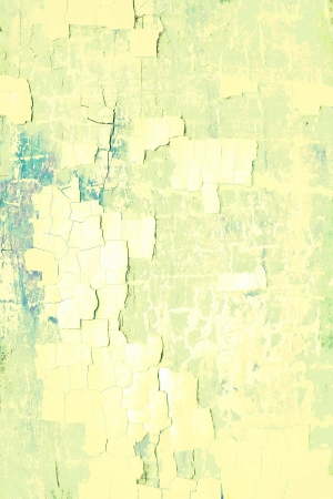 Abstract textured background: blue and green patterns on yellow backdrop. For art texture, grunge design, and vintage paper  border frame photo