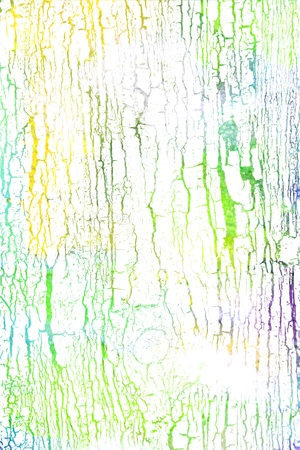 Abstract textured background: white wood-like patterns on blue / green / yellow backdrop. For art texture, grunge design, and vintage paper / border frame photo