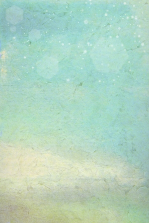 Old canvas: Abstract textured background with blue, yellow, and brown patterns. For art texture, grunge design, and vintage paper / border frame Stock Photo - 16702456