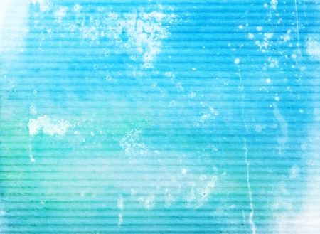 Abstract textured background: white patterns on blue sky-like backdrop. For art texture, grunge design, and vintage paper  border frame photo