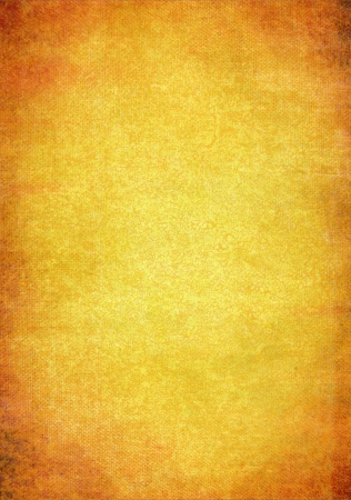 Abstract textured background: orange and brown patterns on yellow backdrop. For art texture, grunge design, and vintage paper / border frame Stock Photo - 16852722