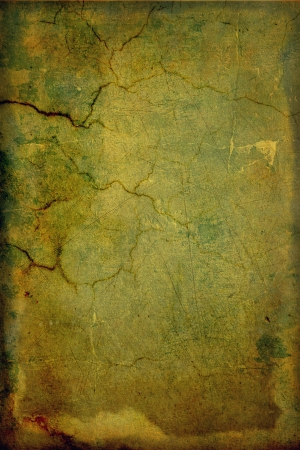 Grain green / brown paint wall background or vintage texture. For art texture, grunge design, and old border frame Stock Photo - 17023750