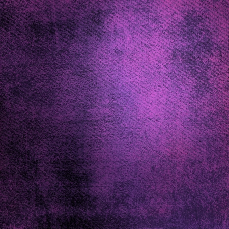 purple background: Abstract purple background or paper with bright center spotlight and dark border frame with grunge background texture  For vintage layout design of light colorful graphic art Stock Photo