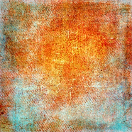 Highly detailed orange and blue grunge background or paper with vintage texture and space for your text, image or border frame Stock Photo - 17389721