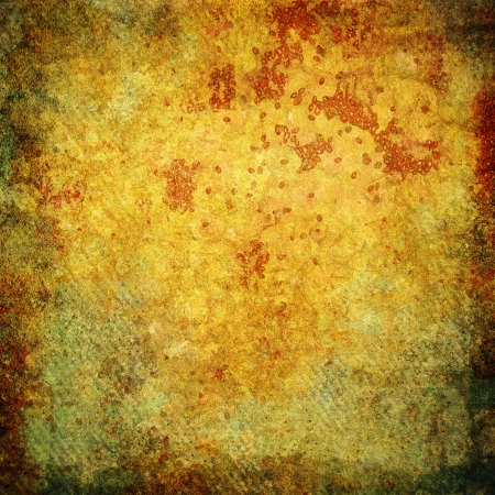 Highly detailed orange and yellow grunge background or paper with vintage texture and space for your text, image or border frame Stock Photo - 17438360