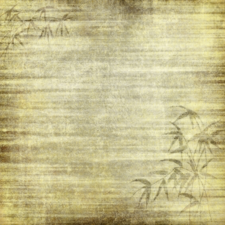 bamboo background: Abstract old background with grunge texture. For art texture, grunge design, and vintage paper or border frame Stock Photo