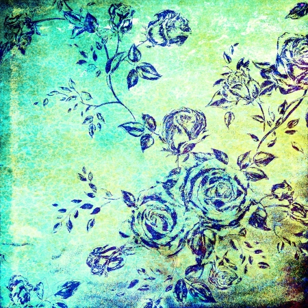 Abstract colorful background or paper with flower-theme grunge texture photo