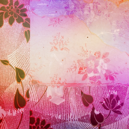 Old grunge background with delicate abstract texture photo