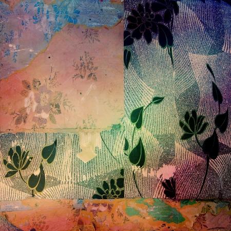 Grunge canvas texture with vignette photo