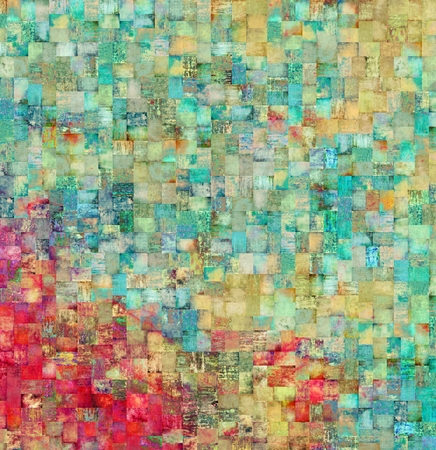 crosshatched: Vintage mosaic background Stock Photo