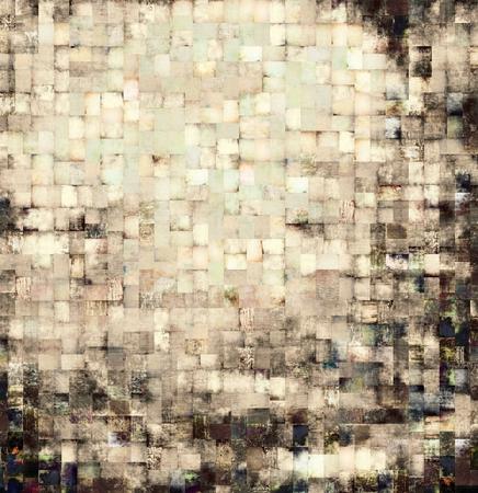 pale cream: Vintage mosaic background Stock Photo