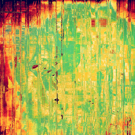 oldfield: Retro background with grunge texture. With different color patterns: yellow, red, orange, green