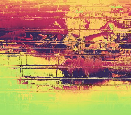 Grunge stained texture, distressed background with space for text or image. With different color patterns: purple (violet); orange; brown; yellow; green photo