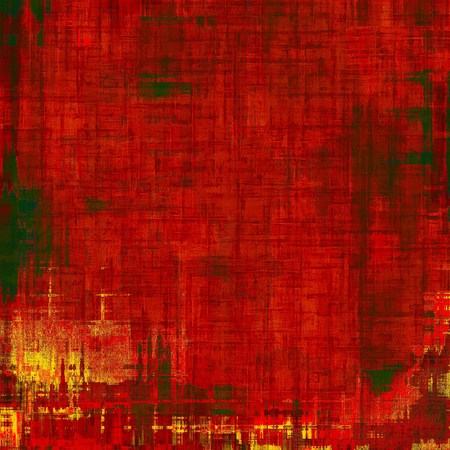 Old grunge antique texture. With different color patterns: yellow; green; red; orange Stock Photo